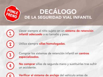 Decálogo por la Seguridad Vial Infantil en España