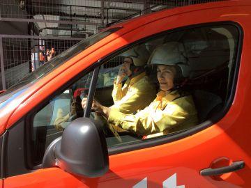Marina Gomis y Eduardo de la Vara, el equipo español del campeonato internacional de conducción ecológica
