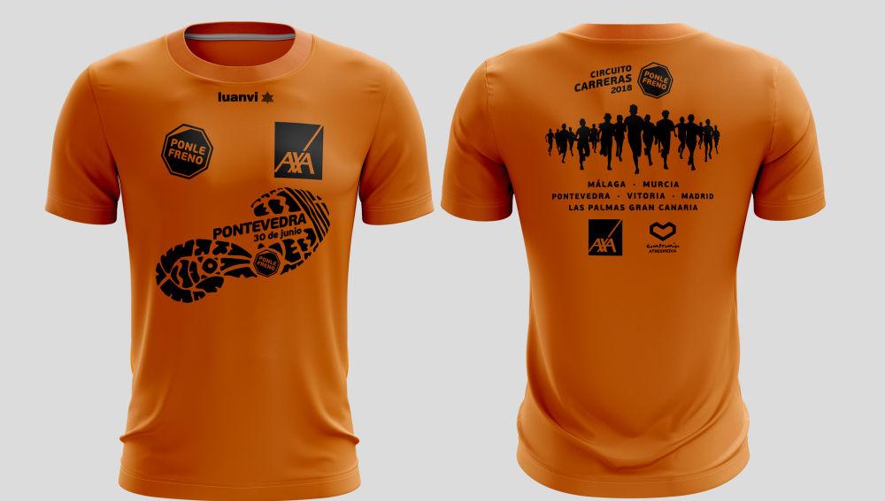 Camiseta carreras Ponle Freno Pontevedra 2018