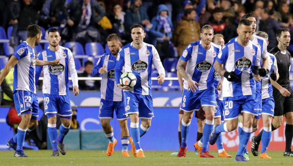 Jugadores del Deportivo de La Coruña