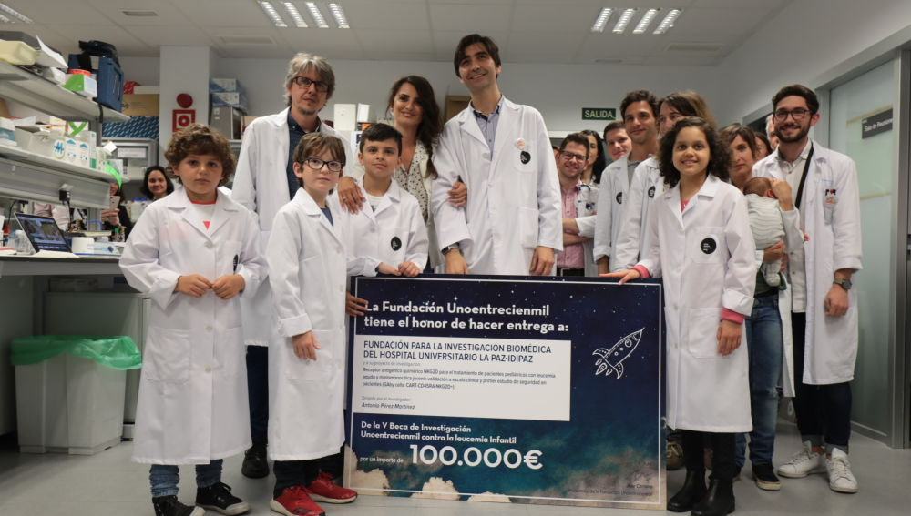 La Fundación Unoentrecienmil entrega 100.000 euros a un oncólogo del Hospital La Paz para investigar en leucemia infantil