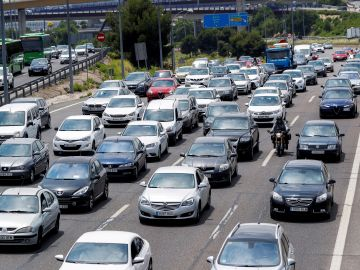Estado del tráfico en la Nacional I, carretera de Burgos, en sentido salida de Madrid