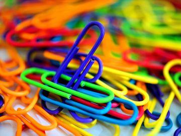 clips de plástico