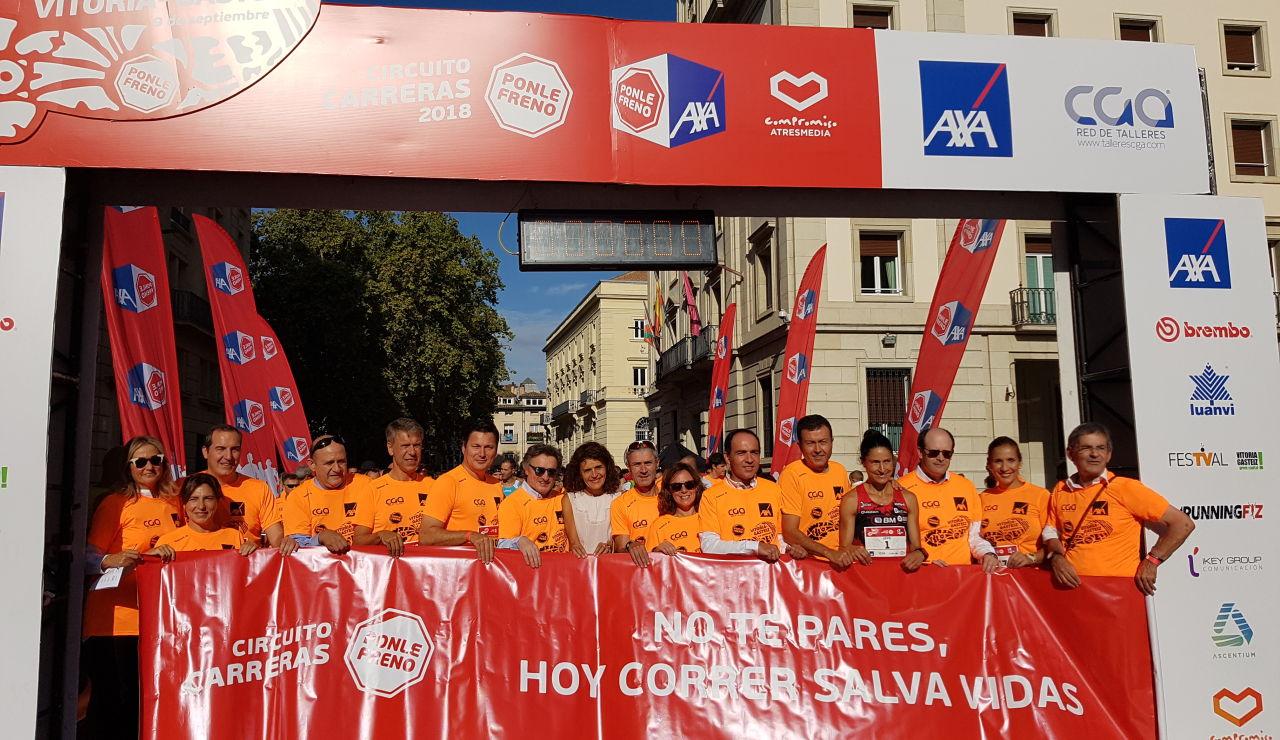 Ponle Freno celebra su carrera en Vitoria con éxito de participación