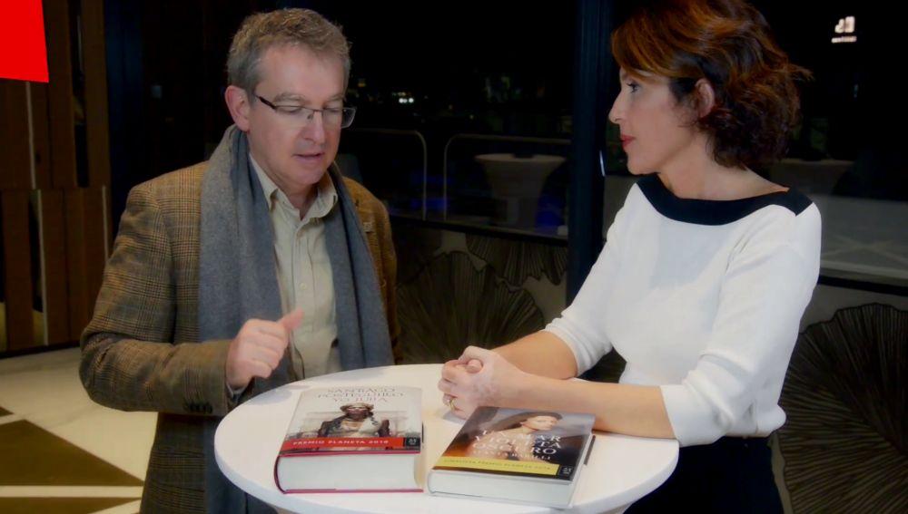 Santiago Posteguillo y Ayanta Barrilli en Crea Lectura
