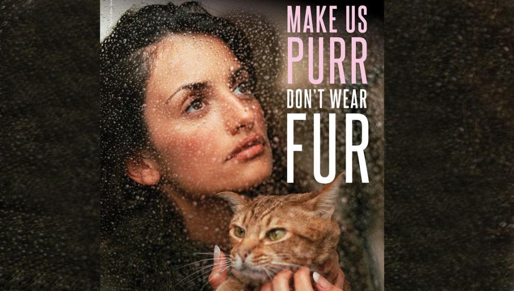 Cartel de Penélope Cruz para PETA