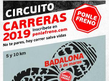 Cartel Carrera Ponle Freno Badalona