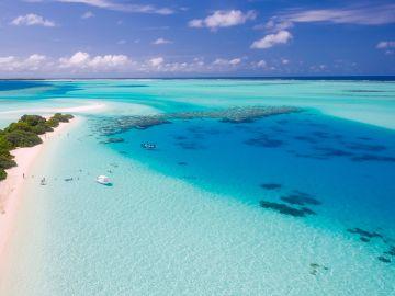 Océano en las Maldivas