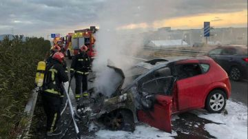 Accidente entre cinco coches en la A7.