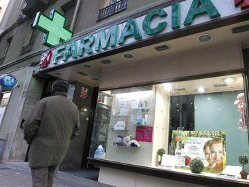 La fachada de una farmacia