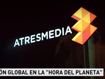 Atresmedia se une a la Hora del Planeta apagando la luz de su fachada por séptimo año consecutivo