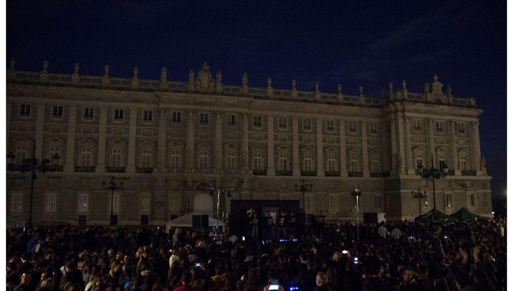 El Palacio Real de Madrid a la Hora del Planeta