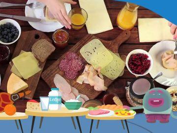 Objetivo Bienestar Junior y Mr. Plinton recuerdan la importancia de tomar un desayuno completo
