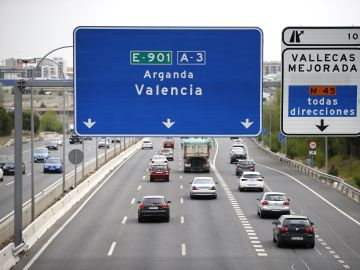 Tráfico en la A3, carretera de Valencia.