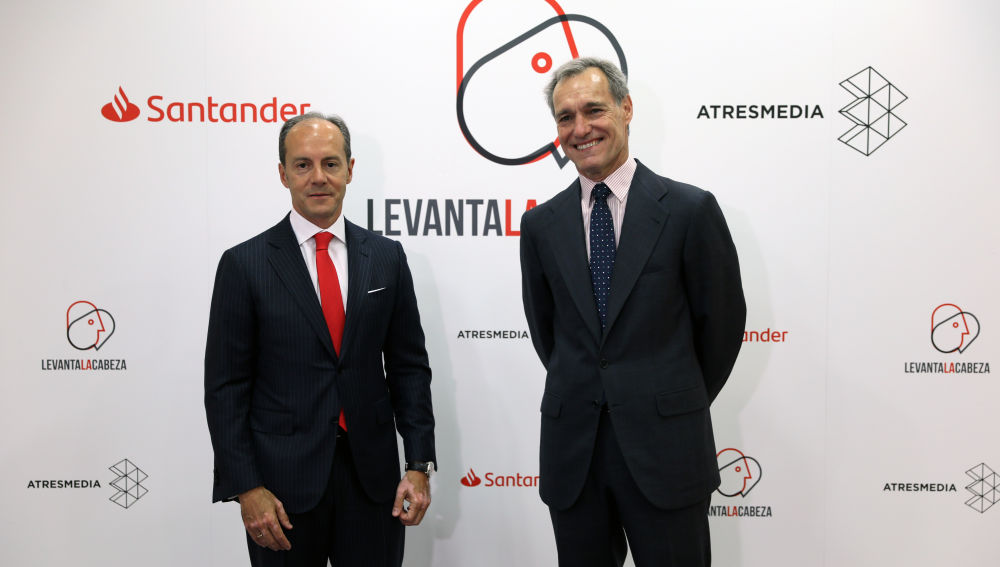 Rami Aboukhair, consejero delegado de Santander España, y Silvio González, consejero delegado de Atresmedia