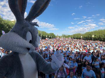 Bugs Bunny en la Marcha de Objetivo Bienestar