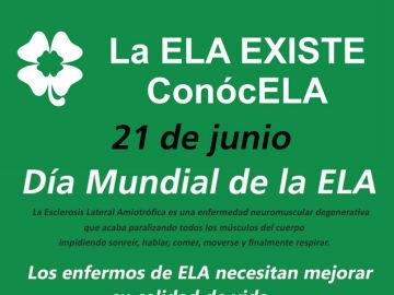 21 DE JUNIO, DÍA MUNDIAL DE LA ESCLEROSIS LATERAL AMIOTRÓFICA