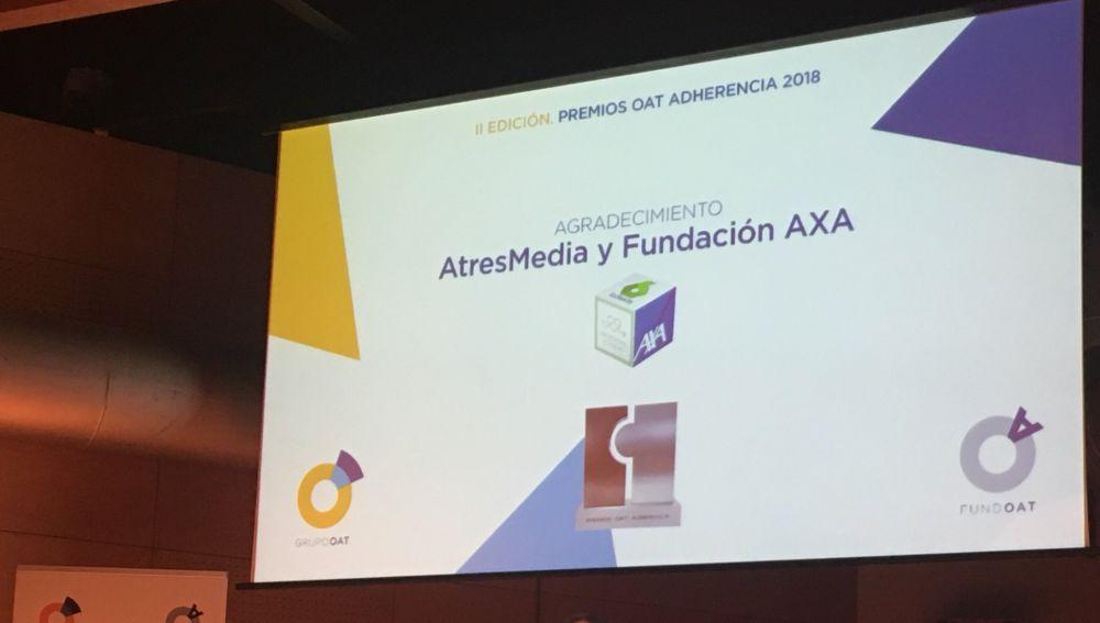 'Tómalo en cuenta' recibe un agradecimiento especial en la segunda edición de los Premios OAT Adherencia
