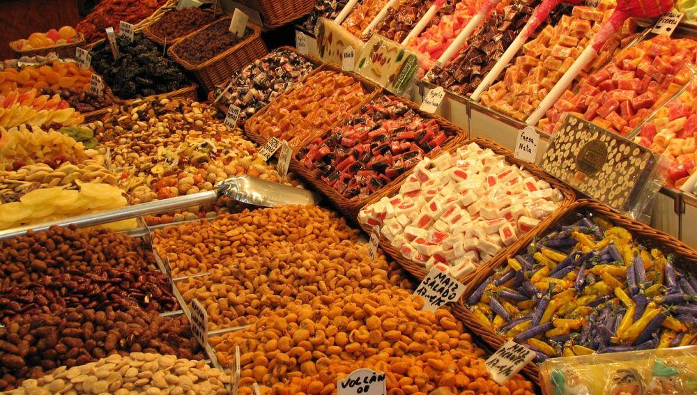 tienda de dulces típica