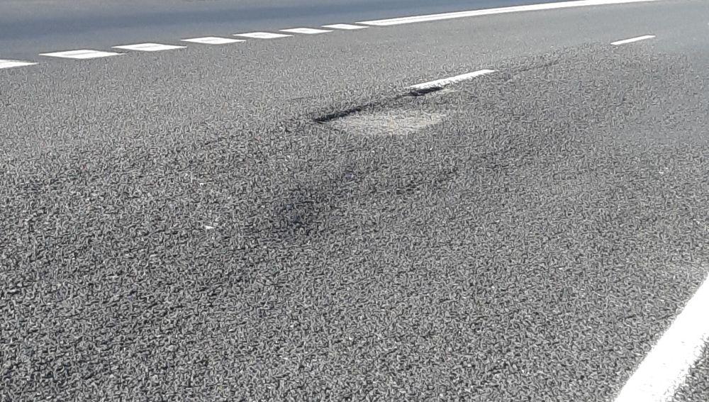 Baches y asfalto mal estado M-45
