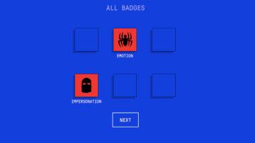 El juego consiste en seis niveles, cuando los superas consigues insignias.