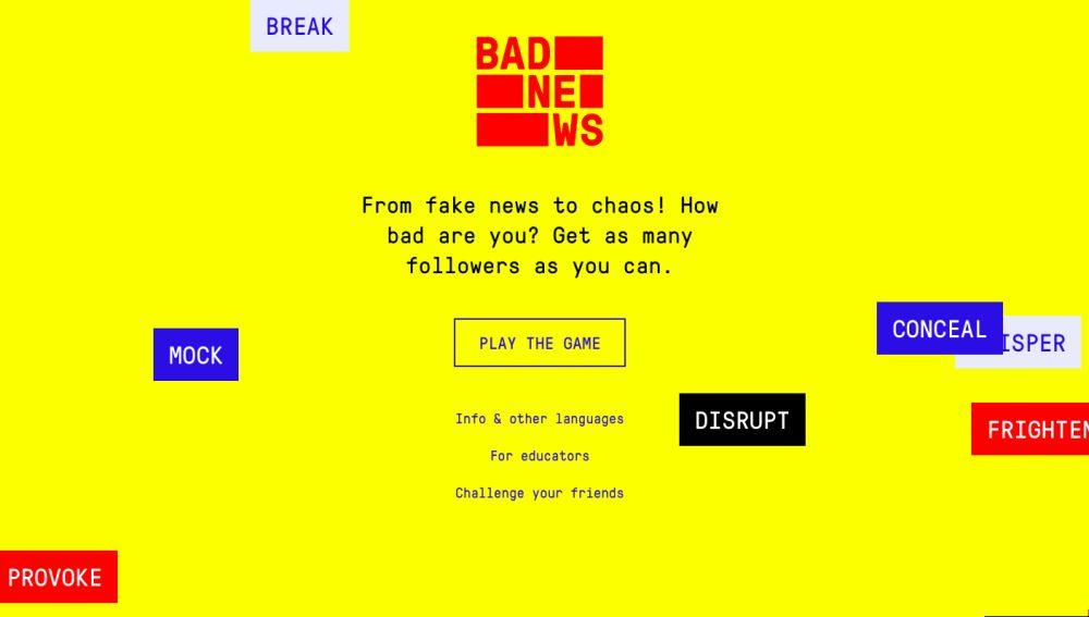El juego Bad News prepara a los usuarios para combatir las fake news