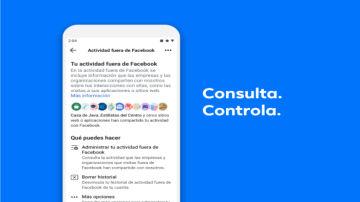 Podrás consultar toda la información de las webs que visitas en 'Tu actividad fuera de Facebook'