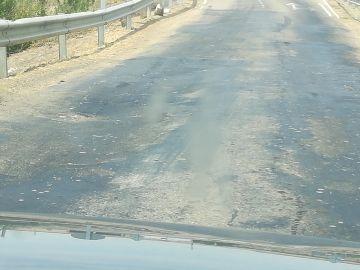 Puente entre Fuentes de Nava y Autillo de Campos en muy mal estado