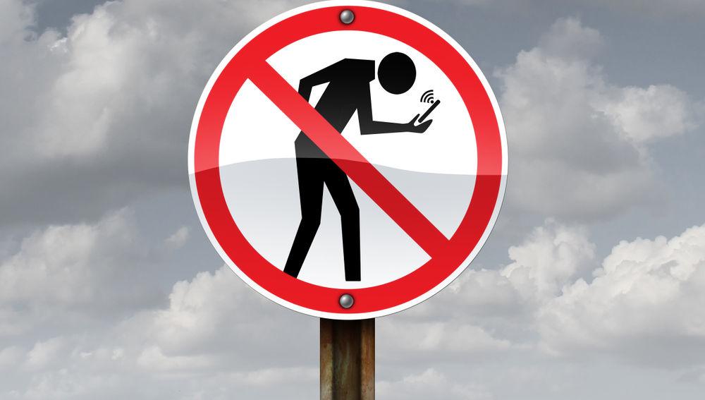 Señal de prohibición de móviles