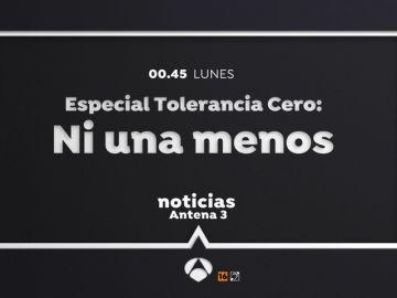 Antena 3 emite el lunes 'Ni una menos. Especial Tolerancia Cero'