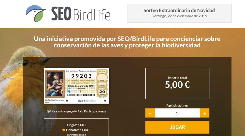 Lotería solidaria de SEO/BirdLife