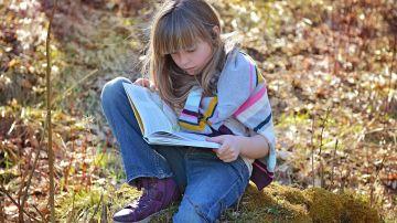 Lectura infantil en el campo