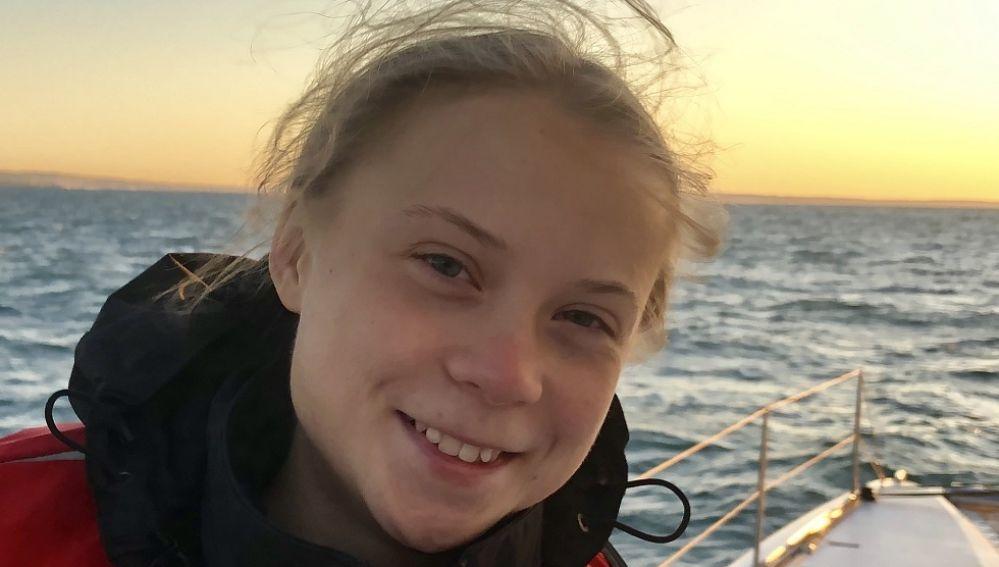 Greta Thunberg llega a Lisboa tras 21 días de navegación