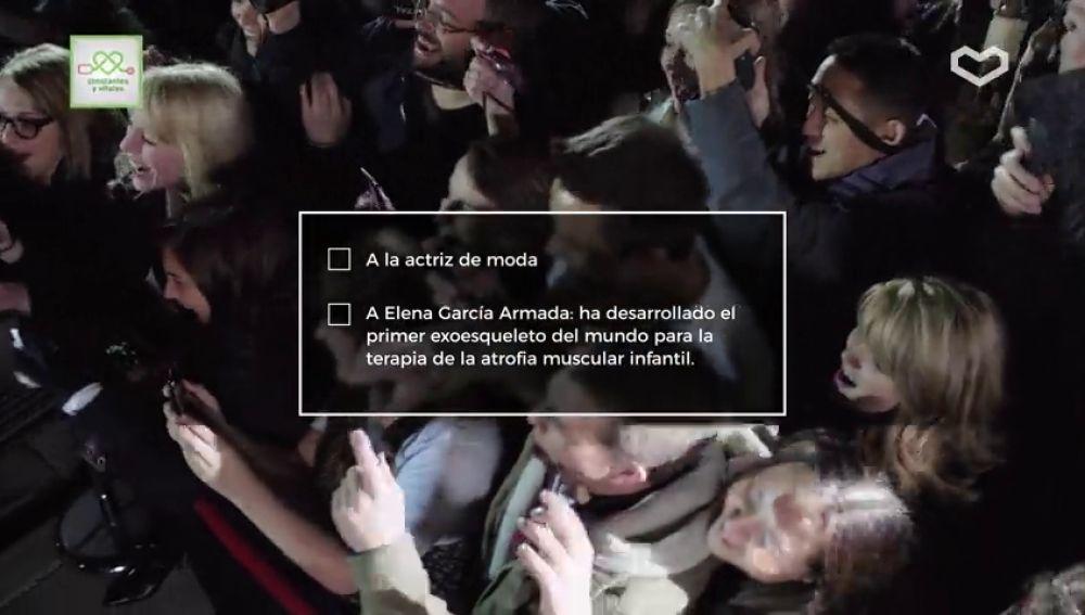 ¿Quieren ver la actriz de moda o a Elena García Armada?