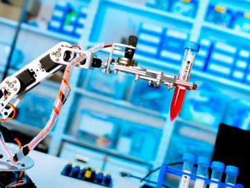 Robot en laboratorio