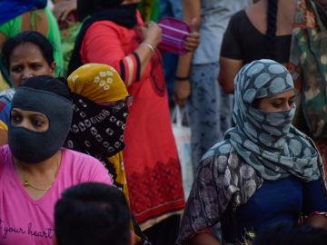 Mujeres de Gujarat protegidas contra el COVID-19