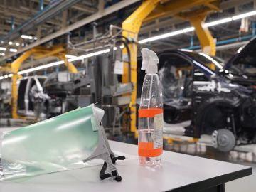 Medidas de higiene en una fábrica de automóviles