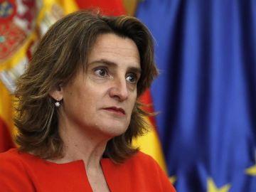 La vicepresidenta cuarta Teresa Ribera