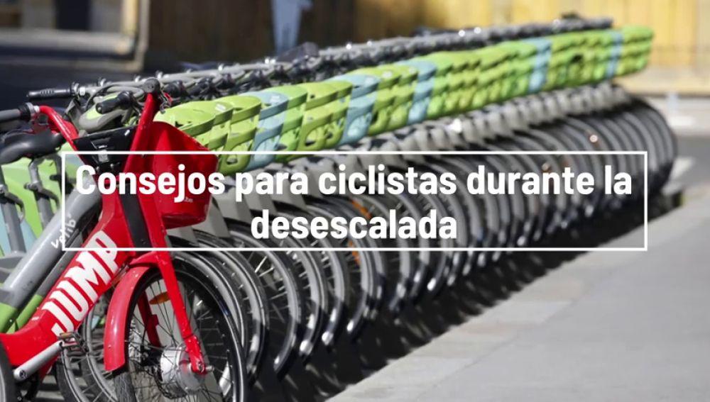 Consejos para usar la bicicleta durante la desescalada