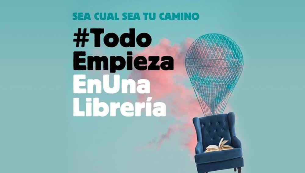 Campaña #TodoEmpiezaEnUnaLibrería, impulsada por el sector editorial y librero