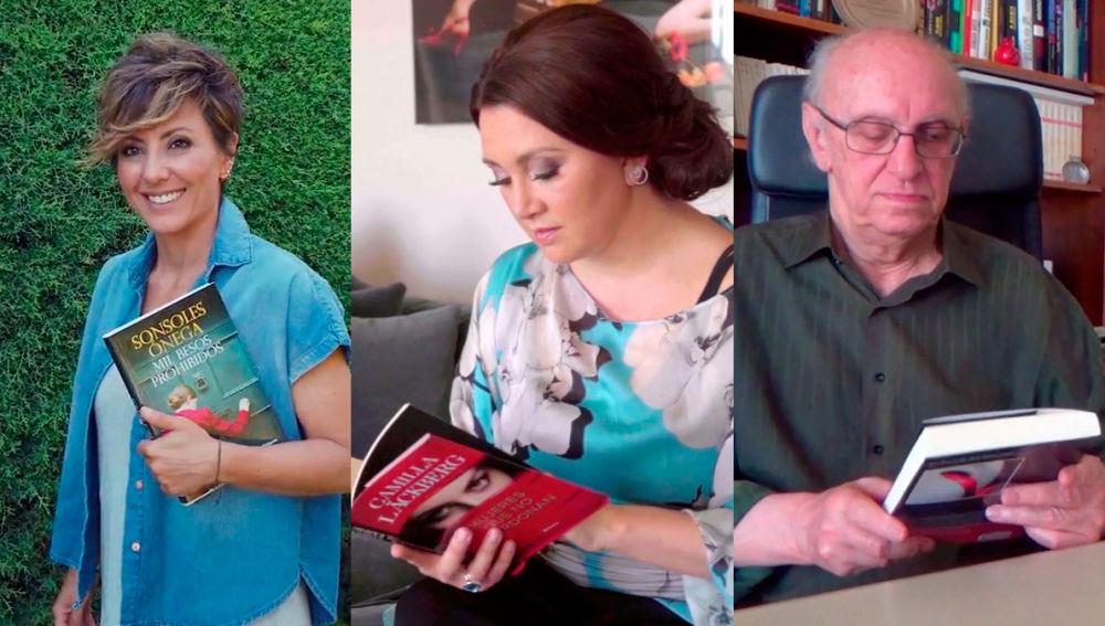 Sonsoles Ónega, Camilla Läckberg y Petros Márkaris en Crea Lectura