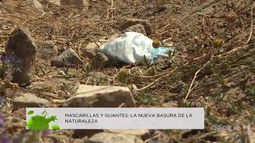 Mascarillas y guantes: la nueva basura de la naturaleza