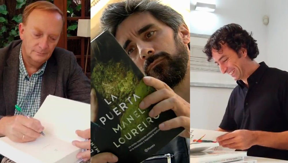 Gonzalo Giner, Manel Loureiro y Andrés Pascual en 'Crea Lectura'