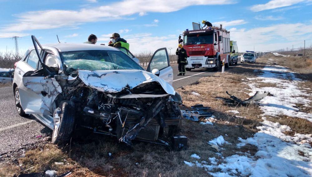 Grave accidente de tráfico en la carretera que une Campo de Criptana con Pedro Muñoz