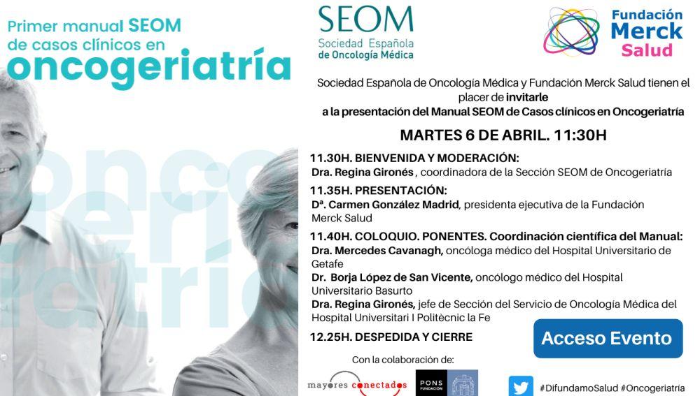 Presentación del primer manual SEOM de casos clínicos en oncogeriatría