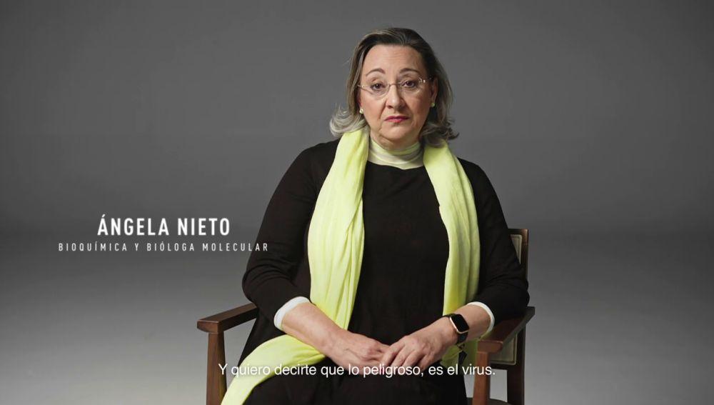 """Ángela Nieto, bioquímica y bióloga molecular: """"Lo peligroso es el virus. Vacúnate, por ti y por todos"""""""