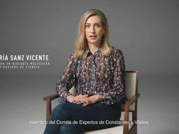 """María Sanz, doctora en Biología Molecular y Gestora de Ciencia: """"Lo peligroso es el virus. Vacúante, por ti y por todos"""""""