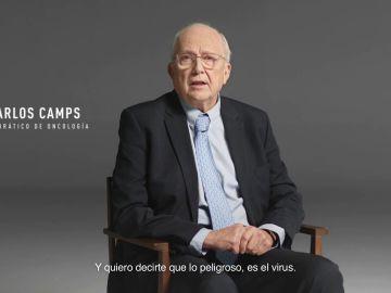 """Carlos Camps, catedrático de oncología: """"Lo peligroso es el virus. Vacúnate, por ti y por todos"""""""