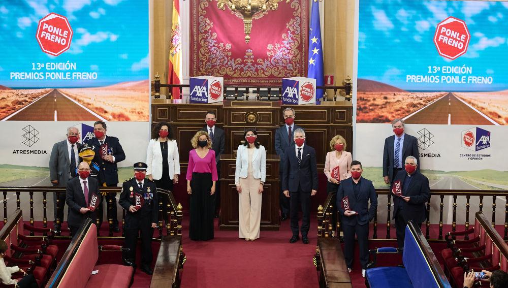 Autoridades y premiados en la 13 ª edición de los Premios Ponle Freno
