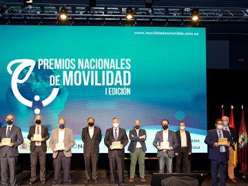 Foto de familia de los I Premios Nacionales de Movilidad